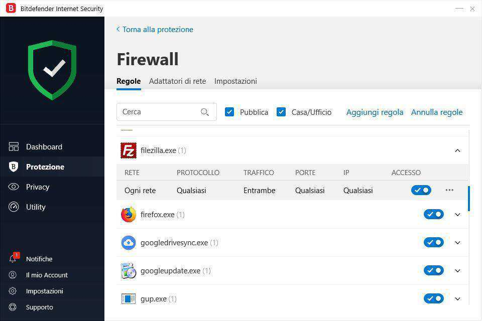 Bitdefender Internet Security 2019 Firewall